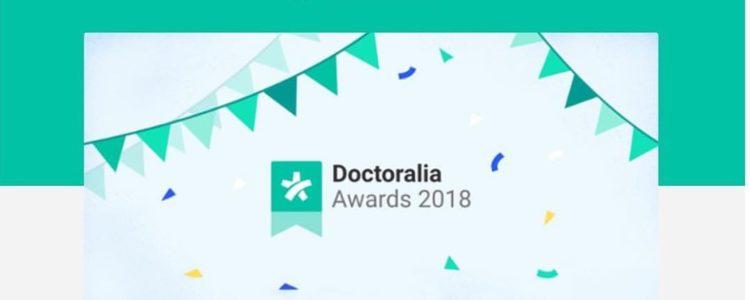 """Nuestra fisio nominada a los """"Doctoralia Awards 2018"""""""
